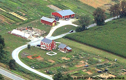 Aerial View of Horn Farm Center for Agricultural Education. Photo by Matt Schardt of MSF Productions. Copyright 2013.