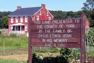 Horn Farm Center For Agricultural Education Sign
