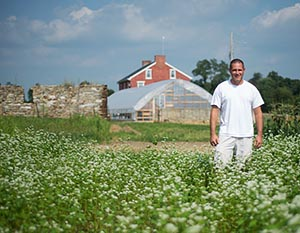 Jeremy Kilgore of Kilgore Family Farm, an Incubator Farms Project farmer at Horn Farm Center