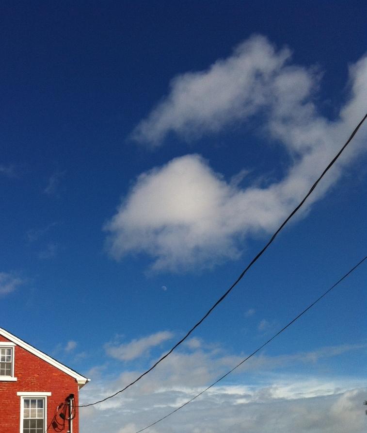 Horn Farm House and blue sky