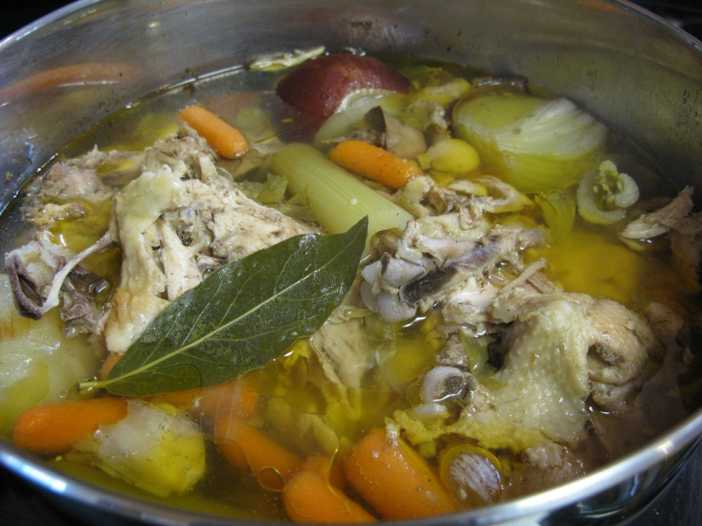 making soup stock