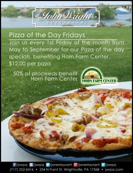 John Wright Restaurant pizza-of-the-week benefit for Horn Farm Center