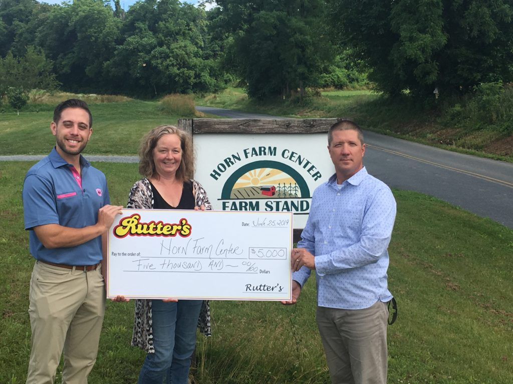 Horn Farm receives check from Rutter's Farm Stores